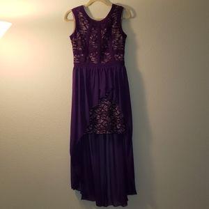 Morgan & Co Lace Hi-Lo Party Dress